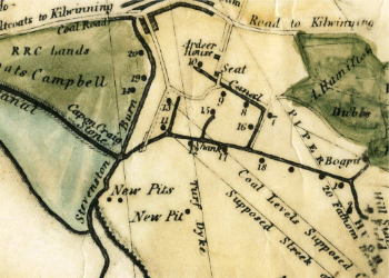 Plan of the Auchenharvie Coalfield. From a map of 1798.